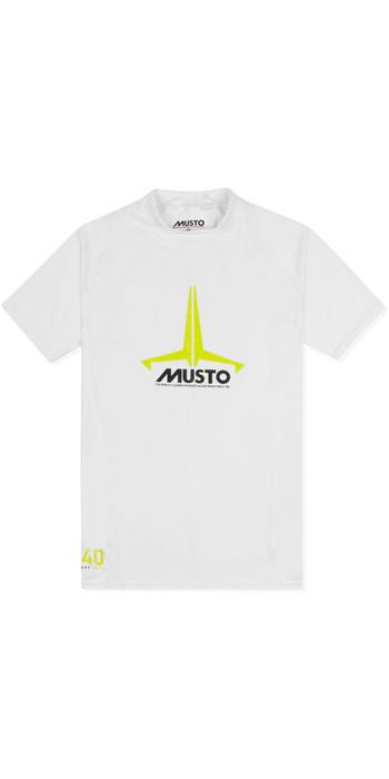 2021 Musto Junior Insignia UV Fast Dry SS T-Shirt White SKTS011