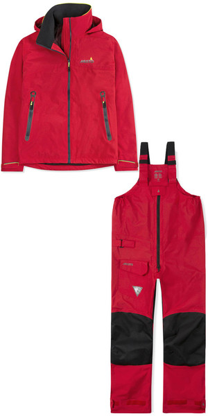 2018 Musto Mens BR1 Inshore Jacket & Trouser Combi Set True Red