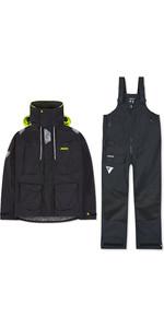 2019 Musto Mens BR2 Offshore Jacket & Trouser Combi Set - Black