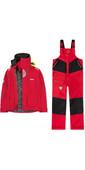2020 Musto Mens BR2 Offshore Jacket & Trouser Combi Set - Red