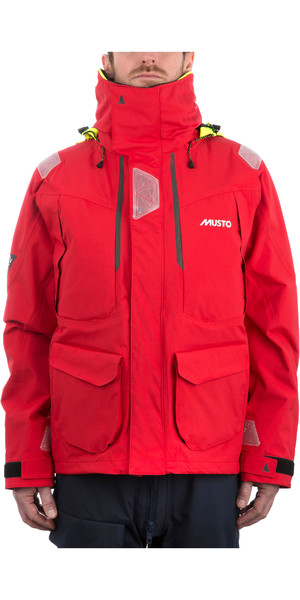 2019 Musto Mens BR2 Offshore Jacket True Red SMJK052