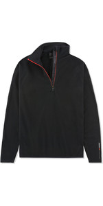 2019 Musto Mens Crew 1/2 Zip Microfleece Black EMFL028