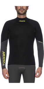 2020 Musto Mens Foiling 1.5mm Thermocool Long Sleeve Top Dark Grey / Black SMTS008