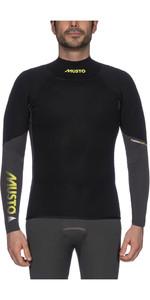 2020 Musto Mens Foiling 1.5mm Thermocool Long Sleeve Top Dark Grey / Black SMTS008