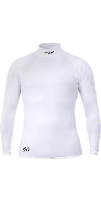 2021 Musto Mens Foiling Sunblock Impact Top White SMTS014