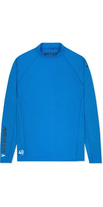 2021 Musto Mens Insignia UV Fast Dry Long Sleeve T-Shirt Brilliant Blue SUTS010