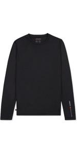 2019 Musto Mens SunShield Permanent Wicking UPF30 Long Sleeve T-shirt Black EMTS030