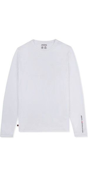 2019 Musto Mens SunShield Permanent Wicking UPF30 Long Sleeve T-shirt White EMTS030