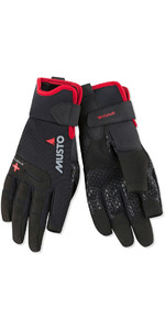 2021 Musto Performance Sailing Long Finger Gloves Black AUGL004