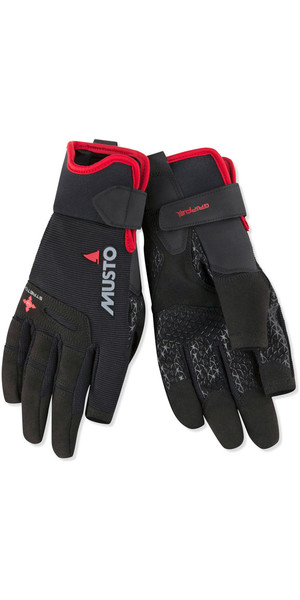 2019 Musto Perfomance Sailing Long Finger Gloves Black AUGL004