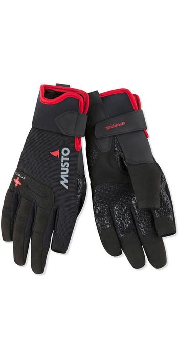 2021 Musto Performance Sailing Long Finger Gloves Black AUGL004