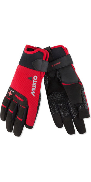 2018 Musto Perfomance Sailing Long Finger Gloves Red AUGL004