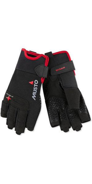 2019 Musto Perfomance Sailing Short Finger Gloves Black AUGL005