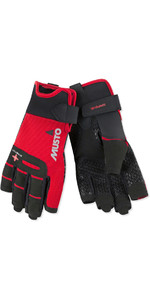 2021 Musto Perfomance Sailing Short Finger Gloves Red AUGL005