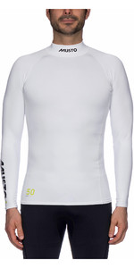 2019 Musto UPF50 Long Sleeve Rash Vest White SUTS003