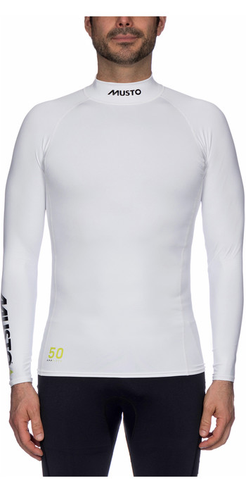 2021 Musto UPF50 Long Sleeve Rash Vest White SUTS003