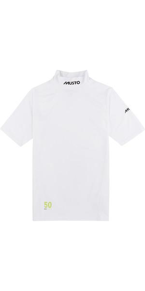 2019 Musto UPF50 Short Sleeve Rash Vest White SUTS004