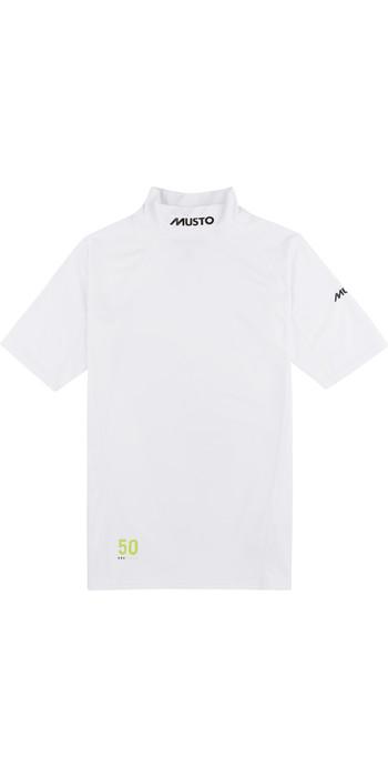 2021 Musto UPF50 Short Sleeve Rash Vest White 80898