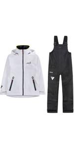 2019 Musto Womens BR1 Inshore Jacket & Trouser Combi Set - White / Black