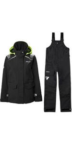 2020 Musto Womens BR1 Inshore Sailing Jacket & BR2 Offshore Trouser Combi Set - Black