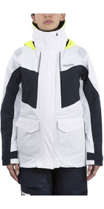 2019 Musto Womens BR2 Coastal Jacket White / Navy SWJK015