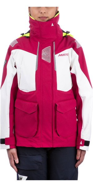 2019 Musto Womens BR2 Offshore Jacket Cerise White SWJK014