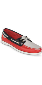 2019 Musto Womens Harbour Moccasin Deck Shoes True Navy / True Red FWFT002