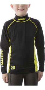 2021 Musto Youth Championship LS Rash Vest Black SKTS006