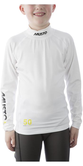 2021 Musto Youth Championship LS Rash Vest White SKTS006