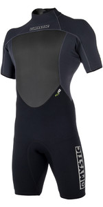2019 Mystic Brand 3/2mm Back Zip Shorty Wetsuit Black 180055