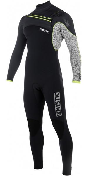 2018 Mystic Drip 5/4mm Front Zip Wetsuit BLACK / GREY 180010
