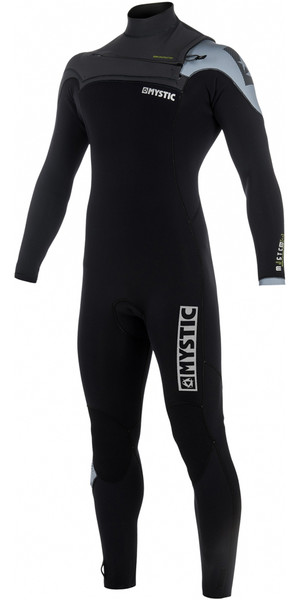 2018 Mystic Majestic 3/2mm GBS Chest Zip Wetsuit Black / Grey 180004