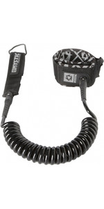 Mystic SUP Coiled Leash 10FT BLACK 160600