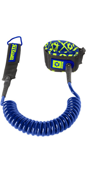 2018 Mystic SUP Coiled Leash 8FT NAVY 160600