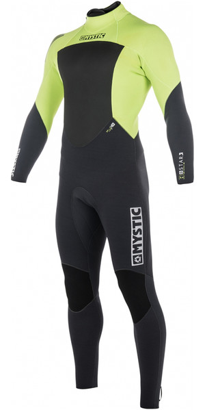 2018 Mystic Star 5/4mm Back Zip Wetsuit LIME 180018