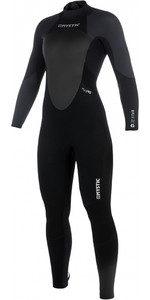 2019 Mystic Women Star 5/4mm Back Zip Wetsuit BLACK / GREY 180029