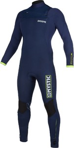 2019 Mystic Mens Marshall 3/2mm Chest Zip Wetsuit 200009 - Navy / Lime
