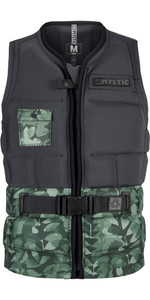 Mystic Shred Impact Vest Front Zip GREEN ALLOVER 180146