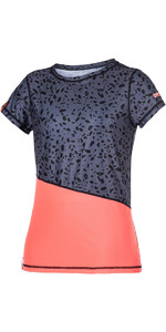 Mystic Womens Diva Short Sleeve Quick Dry Top CORAL 170322