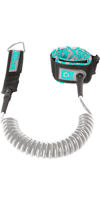 2020 Mystic 10FT Coiled Sup Leash SUPCL - Grey