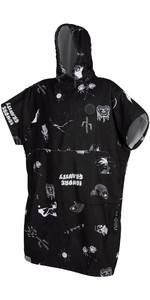 2021 Mystic Allover Poncho / Change Robe 200130 - Black