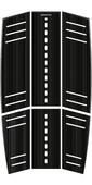2021 Mystic Ambush Kiteboard Mid + Front Deckpad Classic Shape Black 190153