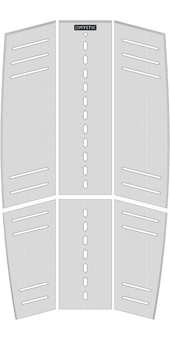 2021 Mystic Ambush Kiteboard Mid + Front Deckpad Classic Shape White 190153