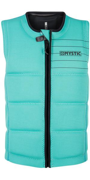 2018 Mystic Brand Front Zip Wake Impact Vest Mint 180153