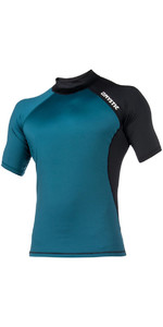 Mystic Crossfire Short Sleeve Rash Vest Teal 180111