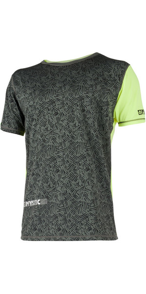 2018 Mystic Drip Loosefit Quick Dry Short Sleeve Rash Tee Lime 180102