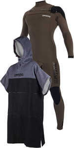 Mystic Majestic Chest Zip 5/3mm Wetsuit & Regular Poncho / Change Robe