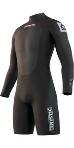 2021 Mystic Mens Brand 3/2mm Long Sleeve Shorty Wetsuit 210315 - Black