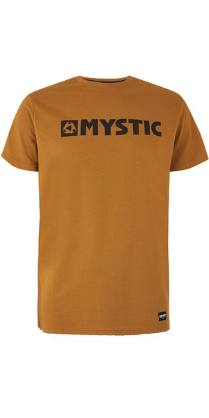 2019 Mystic Mens Brand Tee Golden Brown 190015