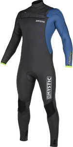 2020 Mystic Mens Majestic 3/2mm Chest Zip Wetsuit 200004 - Grey Blue
